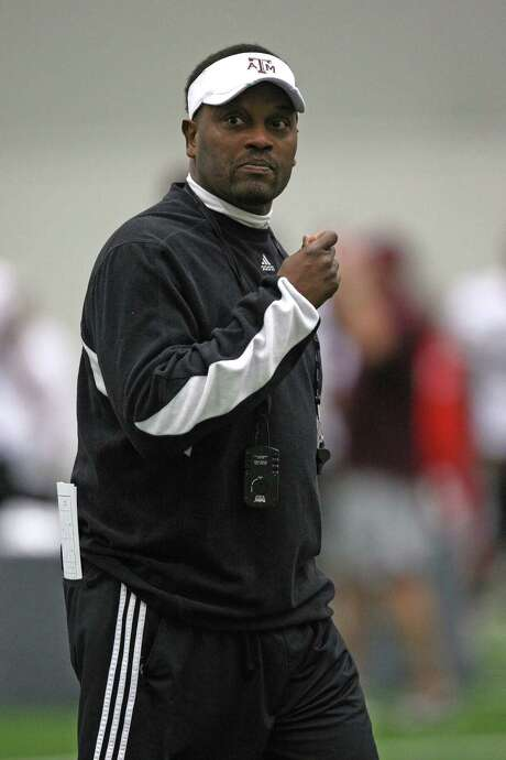 Kevin Sumlin praised strength coach Larry Jackson for helping the Aggies finish games last year.