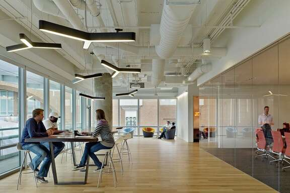 "The right way: Gensler, seeking ""optimal workplace environments,"" designed this space for TM Advertising in Dallas."