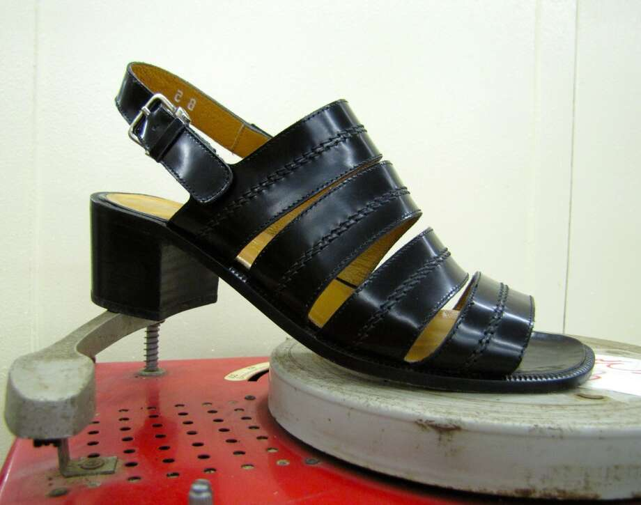 Strappy stacked heel, Treasure House, Beaumont, $6.50 Photo: Cat5