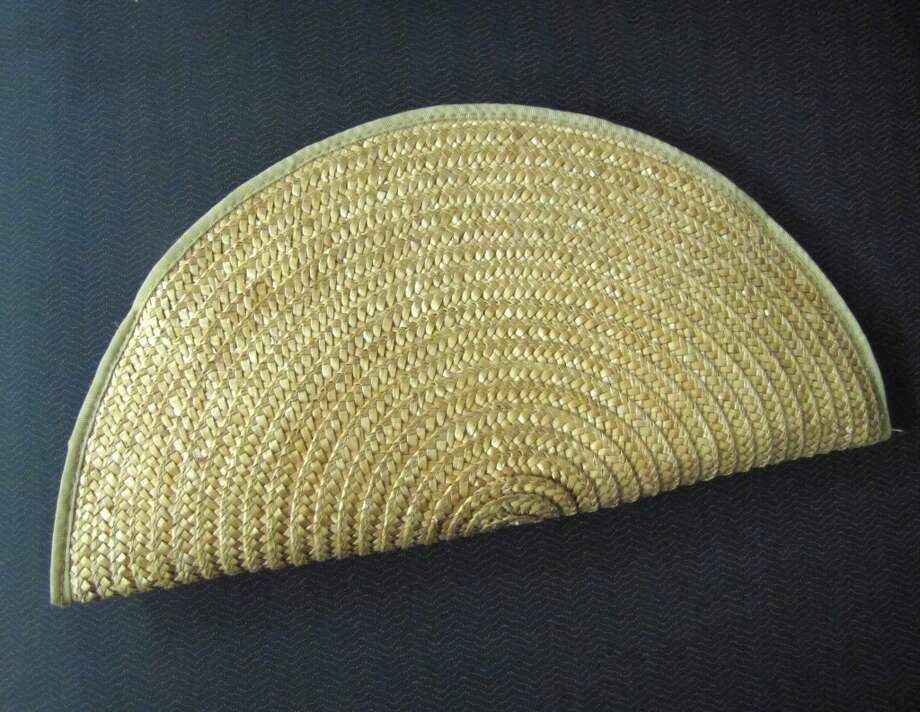 Vintage straw clutch, NV Boutique, Beaumont, $14.99 Photo: Cat5