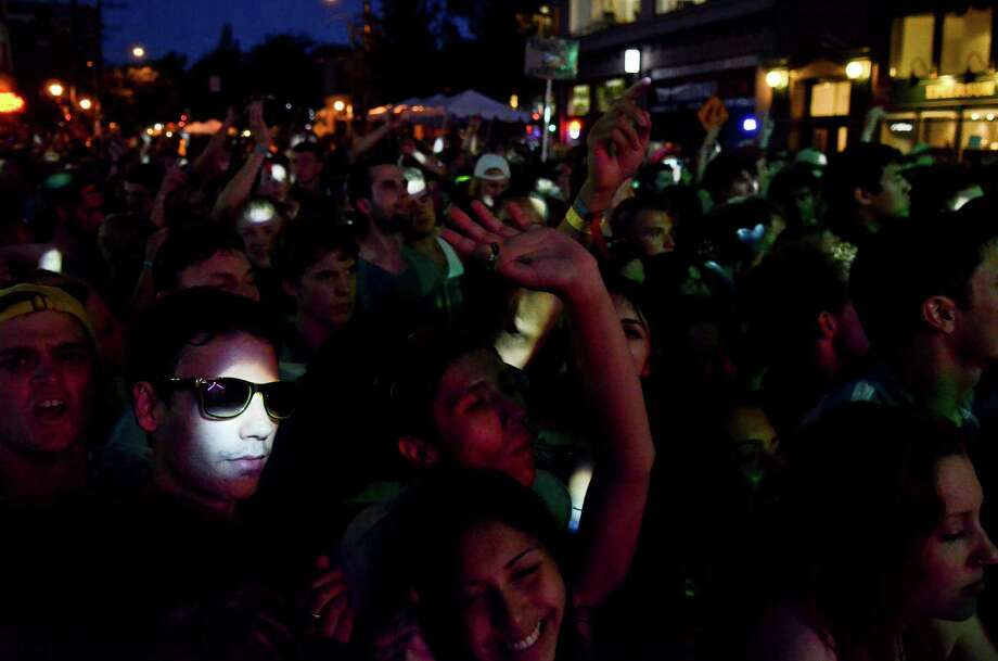 Concertgoers dance to STRFKR during the 2013 Capitol Hill Block Party Friday, July 26, 2013, in Seattle. Photo: SY BEAN, SEATTLEPI.COM / SEATTLEPI.COM
