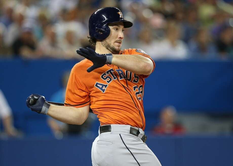 July 27: Astros 8, Blue Jays 6Brett Wallace of the Astros makes a hit against the Blue Jays. Photo: Tom Szczerbowski, Getty Images