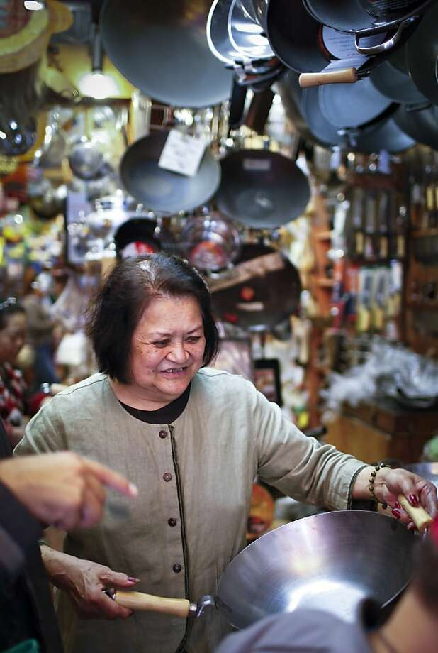 Tane Chan became a culinary ambassador when the Wok Shop opened in S.F. in 1972. Photo: Russell Yip, The Chronicle