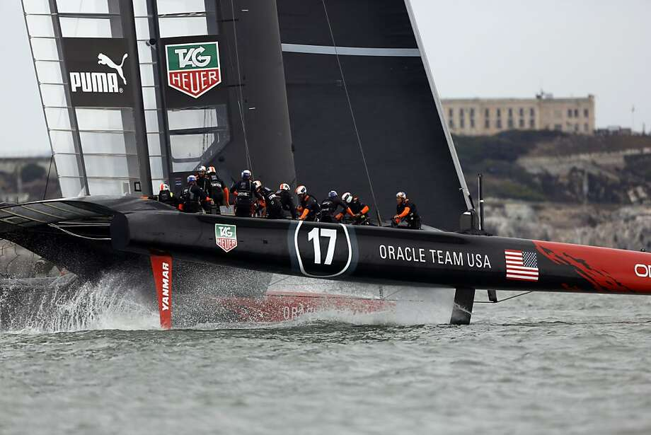America's Cup teams are international - and only two of 23 members of the defending Oracle Team USA are Americans. Photo: Ian C. Bates, The Chronicle