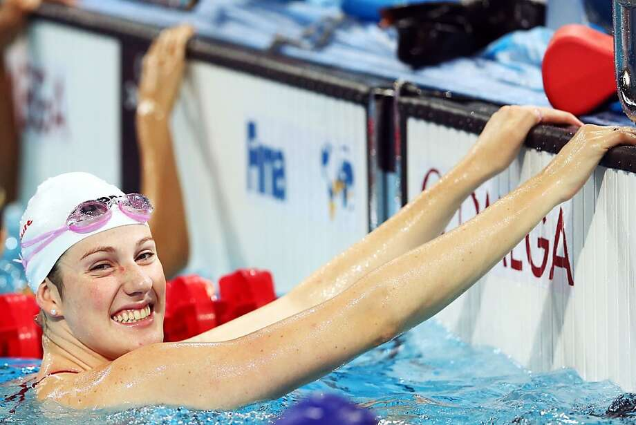 Missy Franklin does what she does best - swim and smile - during a practice session in Barcelona. Photo: Quinn Rooney, Getty Images