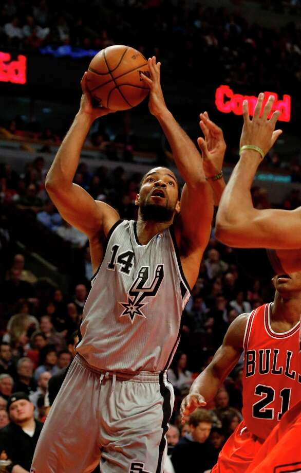 Spurs point guard Gary Neal (14) during the second half Monday, Feb. 11, 2013, in Chicago. The Spurs won 103-89. Photo: Charles Rex Arbogast, Associated Press / AP