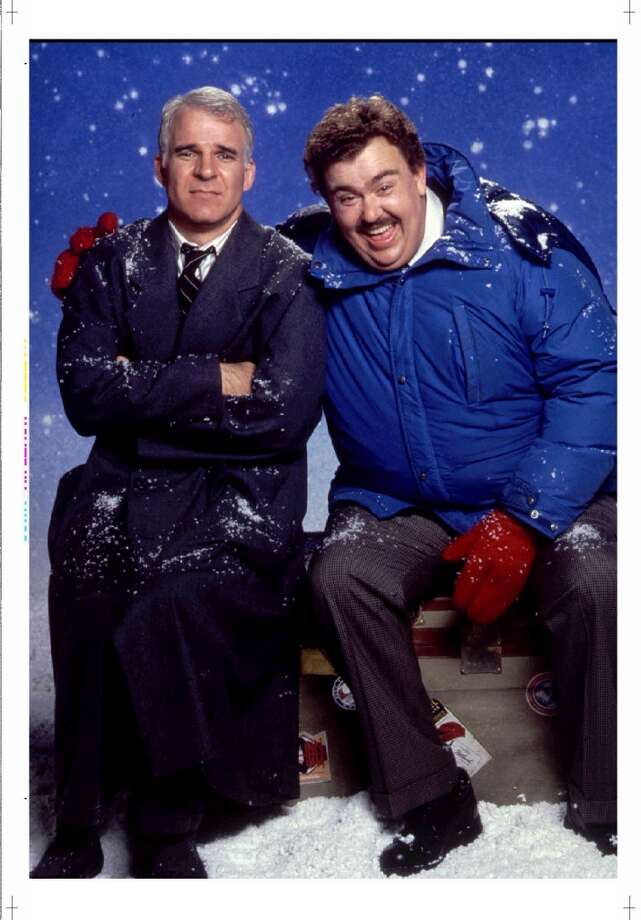 Planes, Trains and Automobiles: As Neal Page, Steve Martin learns it's best to have a Plan B -- and C, D and E --  when traveling home for Thanksgiving, especially when he keeps running into hapless Del Griffith (John Candy), in John Hughes'  non-teencentric comedy. Photo: Paramount Pictures, 1987