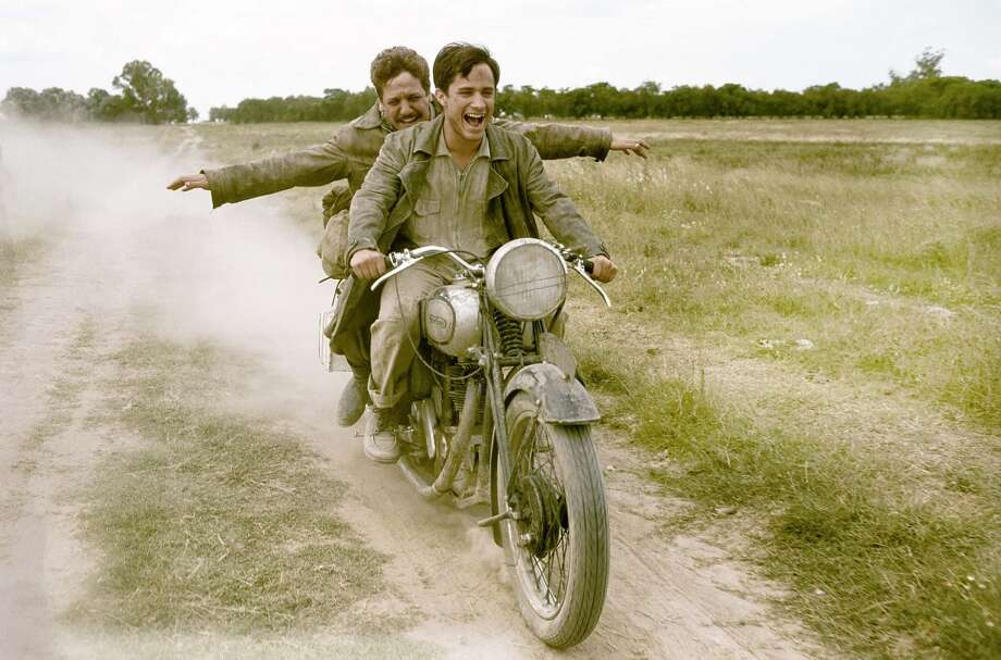The Motorcycle Diaries:'We travel just to travel,' says Gael Garcia Bernal's pre-revolutionary  Che Guevara of his South American odyssey by motorbike with doctor friend Alberto (Rodrigo de la Serna). Photo: FilmFour, 2004