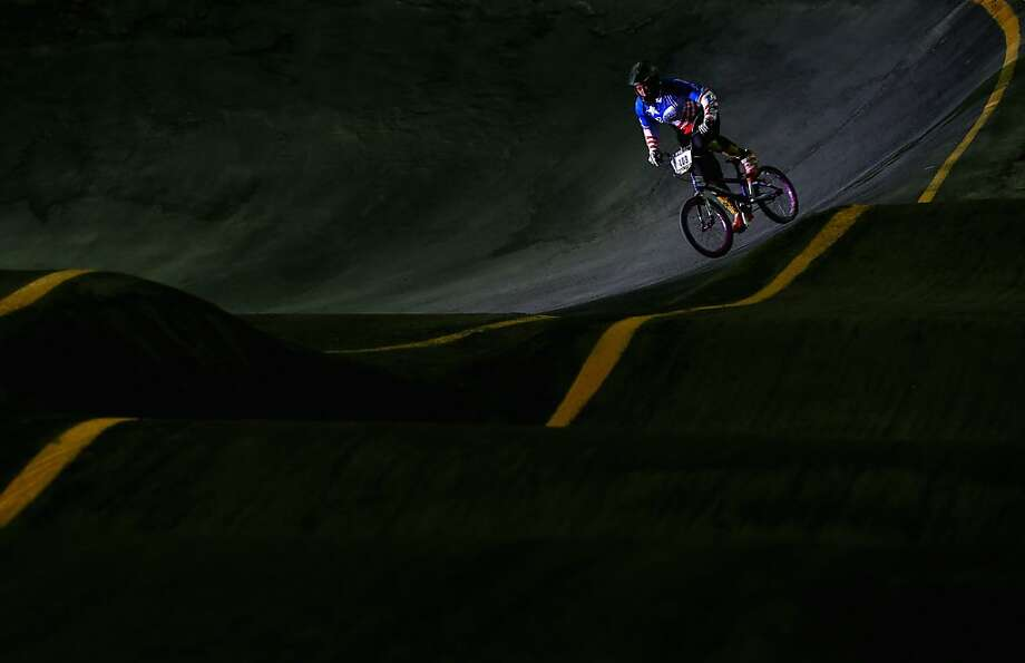 Caution - rough road ahead:Dominique Daniels of Puerto Rico competes in a time trial during day 