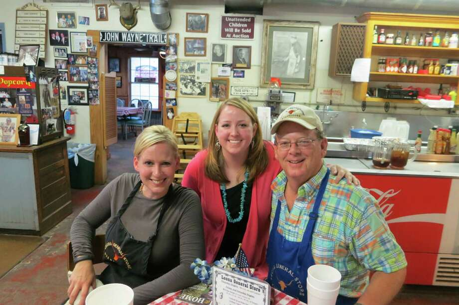 The Leona General Store is a family affair, here Laura House Crawford, Emily House and Jerry House at Leona General Store near Centerville, Texas. Photo: Joe Holley, Houston Chronicle / Houston Chronicle