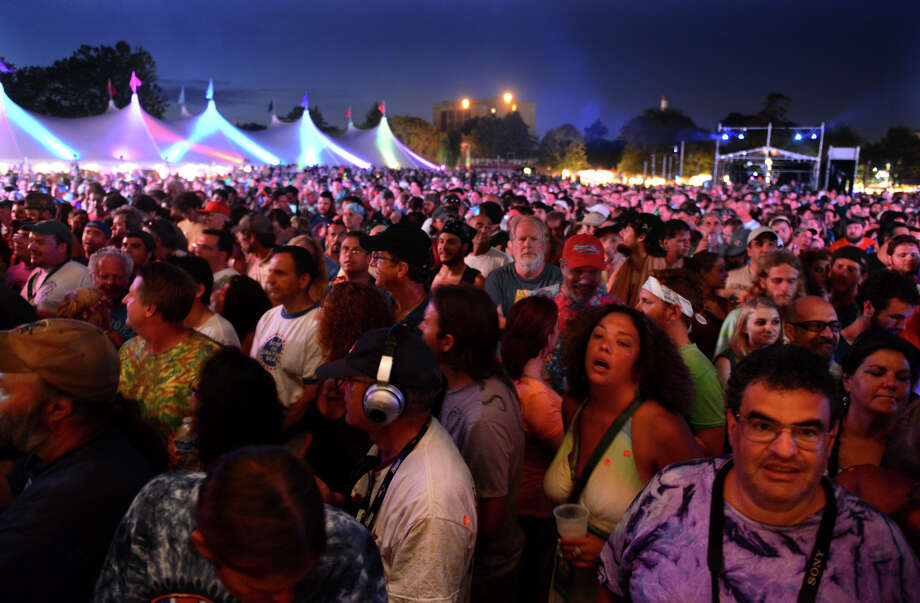 An eager crowd awaits Phil Lesh and Friends to perform during the 18th Annual Gathering of the Vibes music festival at Seaside Park in Bridgeport, Conn. on Saturday July 27, 2013. Photo: Christian Abraham / Connecticut Post freelance
