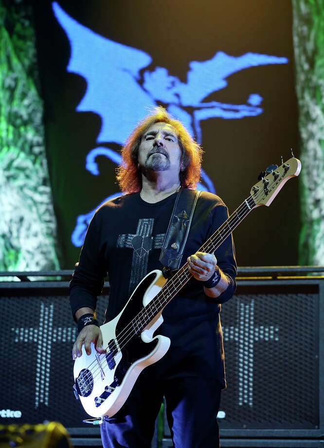 Black Sabbath's Geezer Butler performs with the band Saturday, July 27, 2013, at the Frank Erwin Center in Austin. Photo: Edward A. Ornelas, San Antonio Express-News / © 2013 San Antonio Express-News
