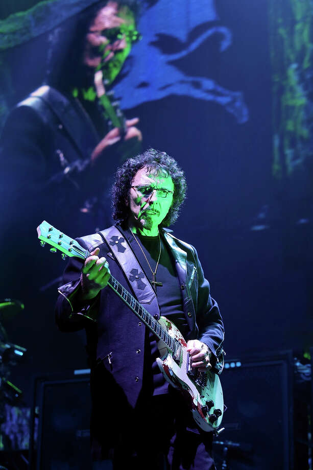 Black Sabbath's Tony Iommi performs with the band Saturday, July 27, 2013, at the Frank Erwin Center in Austin. Photo: Edward A. Ornelas, San Antonio Express-News / © 2013 San Antonio Express-News