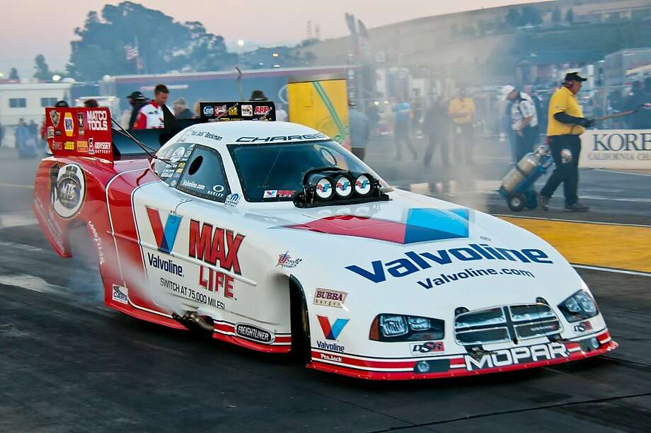 Jack Beckman got off to a great start Friday with the eighth-fastest pass in NHRA history, but he wasn't even the fastest on his team. Photo: Courtesy Photo, Sonoma Raceway