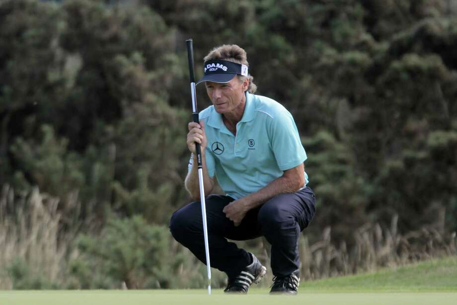 Bernard Langer jumped into the lead after the third round of the Senior British Open, firing a 66. Photo: Phil Inglis, Stringer / 2013 Getty Images