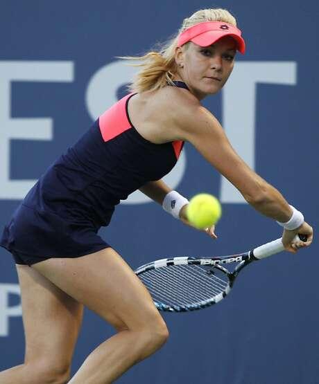 Agnieszka Radwanska, who beat Jamie Hampton on Saturday, will face Dominika Cibulkova in Sunday's 2 p.m. final. Photo: George Nikitin, Associated Press