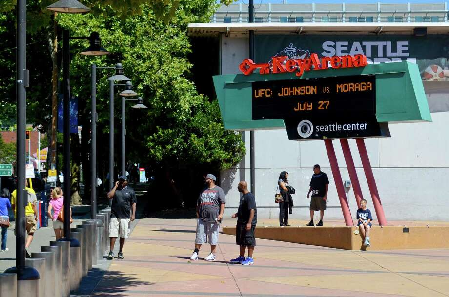 UFC fans wait outside the KeyArena, July 27, 2013, in Seattle. Photo: SY BEAN, SEATTLEPI.COM / SEATTLEPI.COM