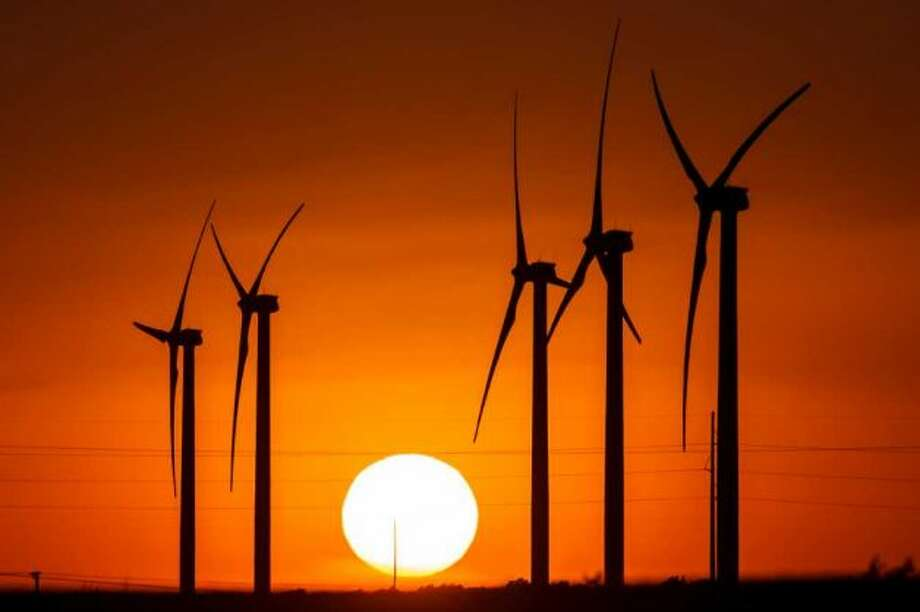 BP's latest wind farm, 30 miles east of Fort Stockton, has 60 turbines and is called Sherbino 2. West Texas is a leading area for green energy production. BP announced in April that it is leaving the wind business. Photo: Michael Paulsen, Houston Chronicle