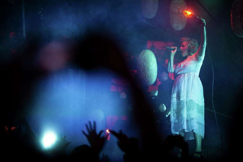 Purity Ring performs on the second day of Capitol Hill Block Party Saturday, July 27, 2013, in the Capitol Hill neighborhood of Seattle. The festival continues Sunday. Photo: JORDAN STEAD, SEATTLEPI.COM / SEATTLEPI.COM