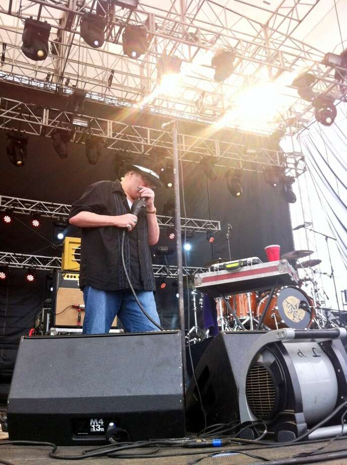 Blues Traveler performs at the Gathering of the Vibes on Sunday, July 28, 2013. John Popper, the band's frontman, grew up in Stamford.