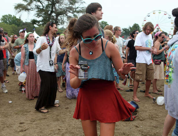 Jess Kowalski, of NH, dances at the 18th annual Gathering of the Vibes Musical Festival at Seaside Park in Bridgeport, Conn. on Sunday, July 28, 2013. Photo: BK Angeletti, B.K. Angeletti / Connecticut Post freelance B.K. Angeletti