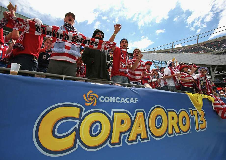 CHICAGO, IL - JULY 28:  Fans of the United States cheer as their team enters the field for warm-ups before taking on Panama during the CONCACAF Gold Cup final match at Soldier Field on July 28, 2013 in Chicago, Illinois. Photo: Jonathan Daniel, Getty Images / 2013 Getty Images