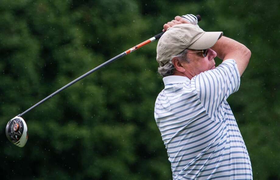 John Payne drives off the seventh tee during the 2nd round of the 2013 Stamford Amateur Golf Championship held at Sterling Farms Golf course Stamford, CT on Sunday July 28th, 2013. Photo: Mark Conrad / Stamford Advocate Freelance