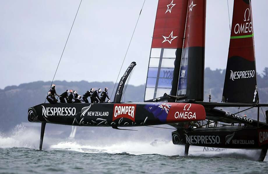 Emirates Team New Zealand has a lot riding on the outcome of this year's America's Cup - perhaps more so than defending champion Oracle Team USA. Photo: Rohan Smith, The Chronicle