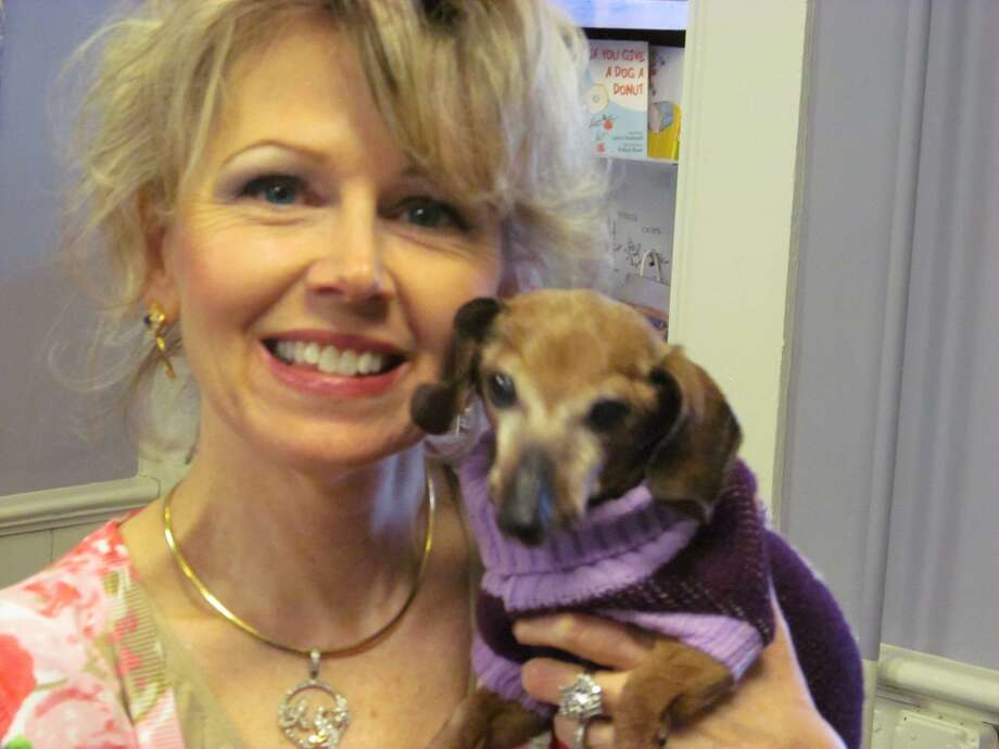 "Cyndi West and Lily at the Chatham Book Store for a reading of ""Lily in the Box."" (Provided photo)"