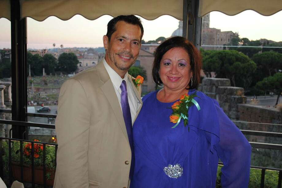 Myrta Lasalle Fariza, 58, shown here with her husband Robert, died Sunday after suffering severe head injuries from a train crash in Spain. Photo: Courtesy Photo