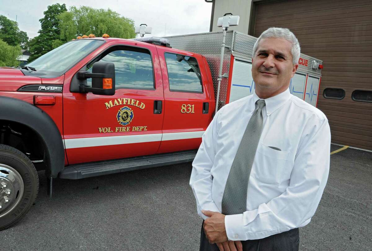 Fulton County Sheriff Richard Giardino at the Mayfield firehouse where he is a volunteer firefighter on Friday, June 14, 2013 in Mayfield, N.Y. Giardino is blasting Gov. Andrew Cuomo's pandemic rules about only 10 people for Thanksgiving dinner. (Lori Van Buren / Times Union)