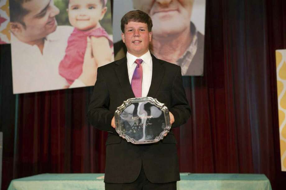 "Leukemia and Lymphoma Society's ""Man of the Year,"" Daniel Edelen, 16, of San Antonio, with help from his family raised $467,000 for the society in 10 weeks last spring, breaking a previous national record of $423,000 in fundraising. Photo: Courtesy Photo"