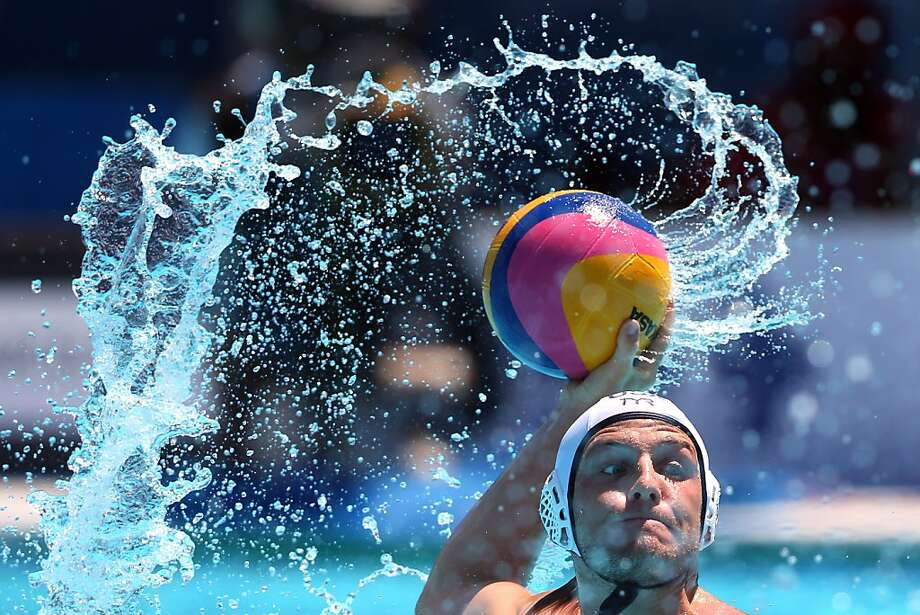 BARCELONA, SPAIN - JULY 28:  Anthony Azevedo of US during the Men's Water Polo quarterfinals qualification match between United Sates of America and Spain during day nine of the 15th FINA World Championships at Piscines Bernat Picornell on July 28, 2013 in Barcelona, Spain.  (Photo by Alexander Hassenstein/Getty Images) *** BESTPIX *** Photo: Alexander Hassenstein, Getty Images