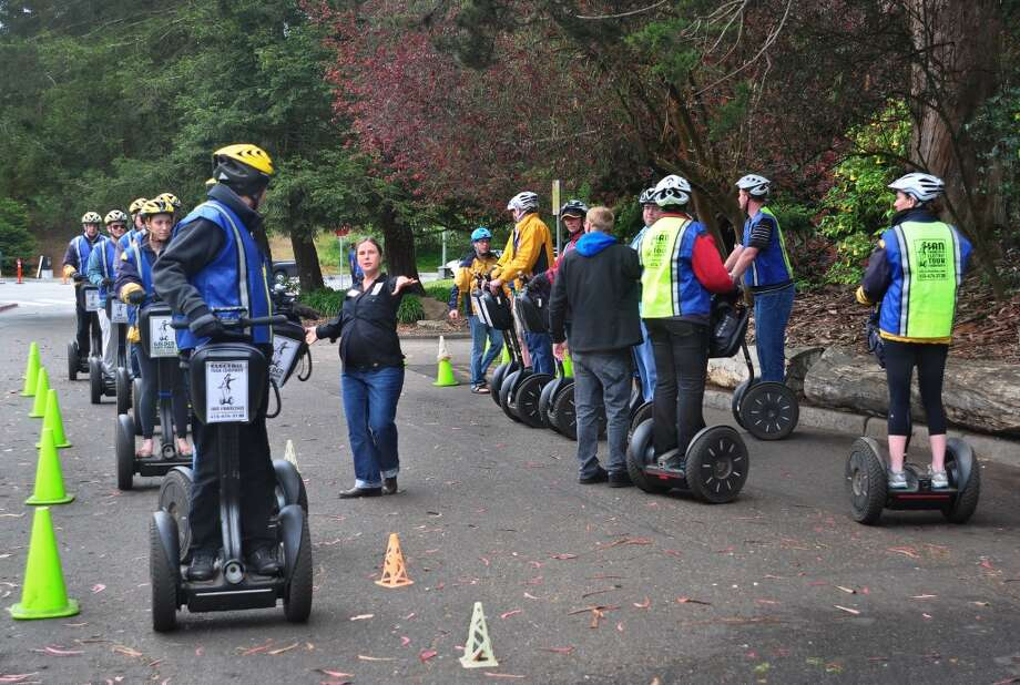 Ride Segways through Golden Gate Park  By now we can safely say the Segway didn't change the world. But it did provide tourists with a less inexpensive alternative to walking. Authorized tours still operate, even though the city banned Segways on the sidewalk in 2002. Pro tip: walk, even though it's only 95% the speed of a Segway. Photo: Robert Alexander, Getty Images