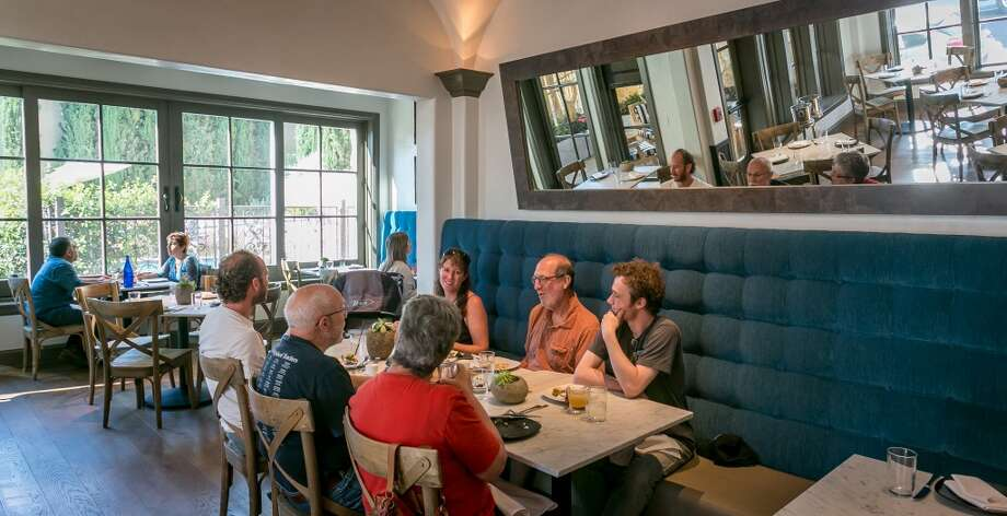 People have dinner at Chalkboard in Healdsburg, Calif., on Friday, July 19th, 2013. Photo: Special To The Chronicle