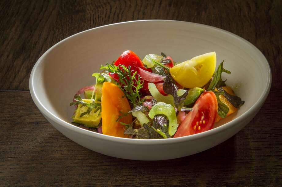 The Heirloom Tomato Panzanella salad at Chalkboard in Healdsburg, Calif., is seen on Friday, July 19th, 2013. Photo: Special To The Chronicle