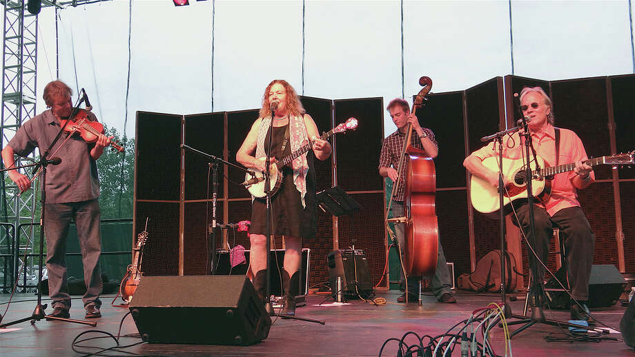 Robin and Linda Williams perform Sunday evening at Jesup Green, part of the Levitt Pavilion's summer season of free entertainment. Photo: Mike Lauterborn / Westport News contributed
