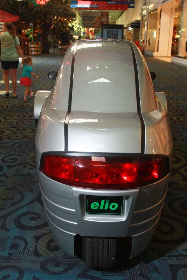 The Elio, a three-wheeled vehicle, was on display at Katy Mills shopping center. Photo: Gary Fountain, For The Chronicle