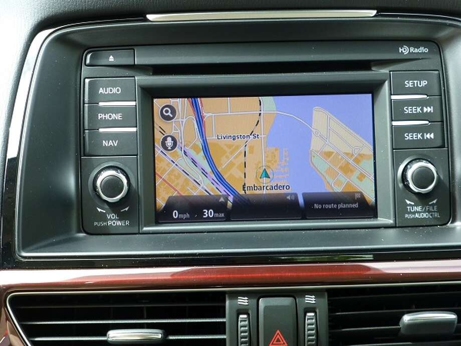 The navigation system's screen doubles as a rear-view camera when you put the Mazda6 in reverse.
