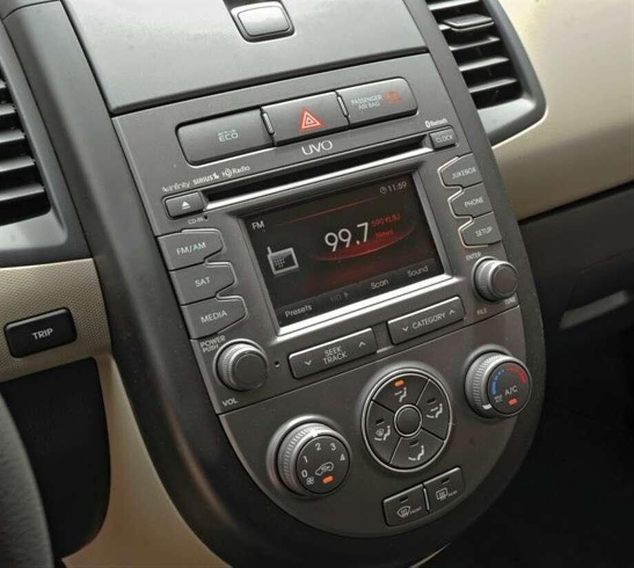 The UVO touchscreen Photo: Kia Motors