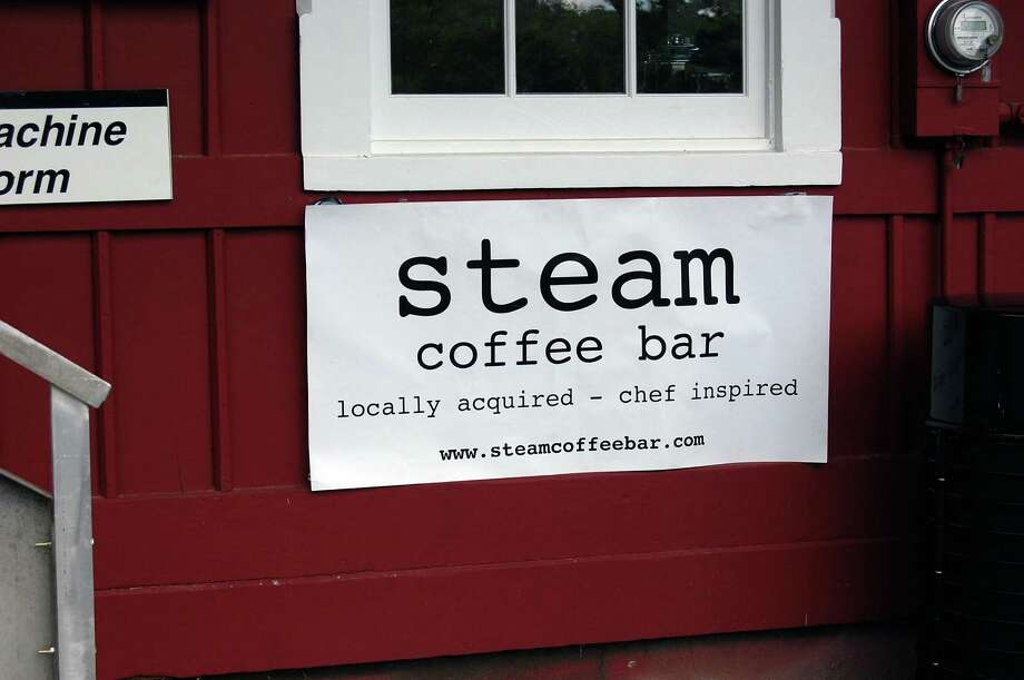 Steam, the new coffee shop at Greens Farm train station, opened Monday. Photo: Cameron Martin / Westport News