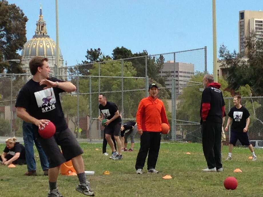 Board President David Chiu, San Francisco City Hall, and a Republican trying to hit someone with a ball.