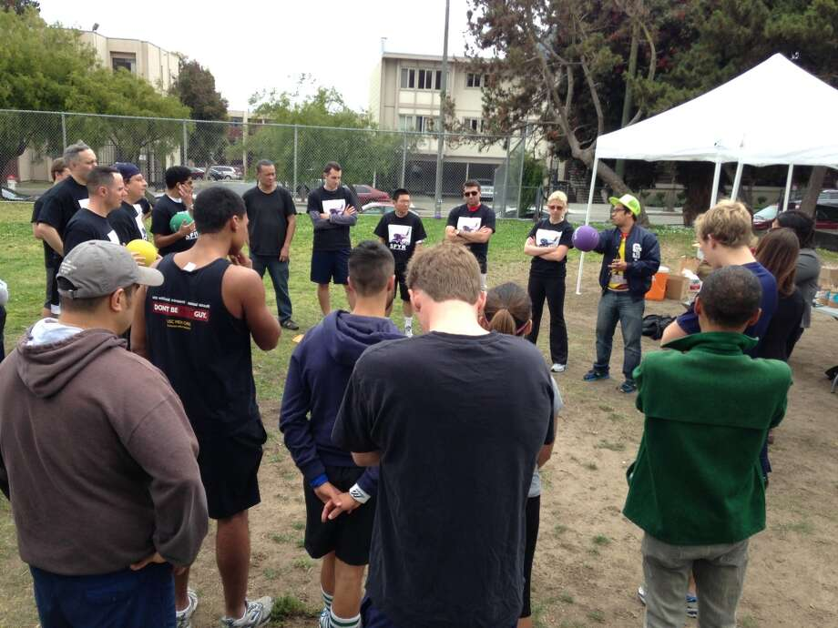 The teams going over the rules, which were so complicated, I'm pretty sure no one knew exactly what was going on.