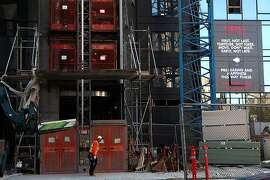 The NeMa building under construction in San Francisco, Calif., on Wednesday, July 24, 2013.  NeMa is a new residential building opening in October designed by Glenn Rescalvo with four linked towers ranging from 10 to 37 stories.