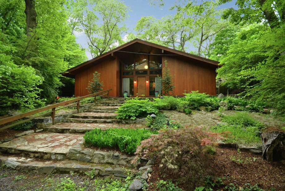 Architect Edward Durell Stone, a close friend and contemporary of Frank Lloyd Wright, designed the house at 3 Dogwood Lane in Darien, on the market for $1,600,000. Photo: Contributed