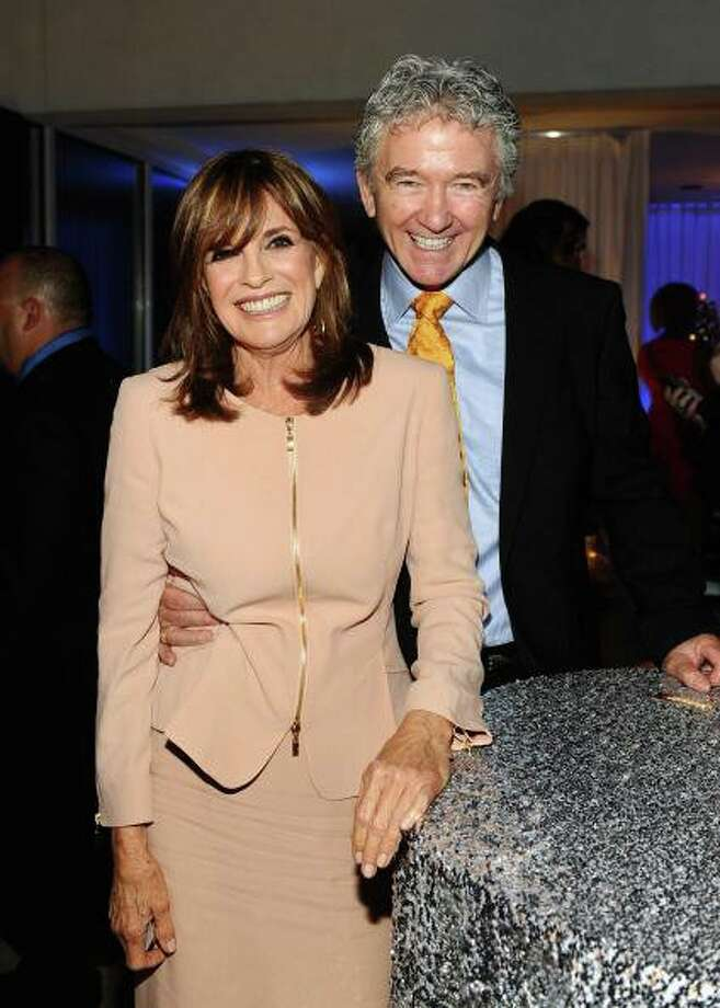 At TNT 25th Anniversary party: Moments with 'Dallas' stars Linda Gray and Patrick Duffy brought giggles and tears. Photo: Getty Images