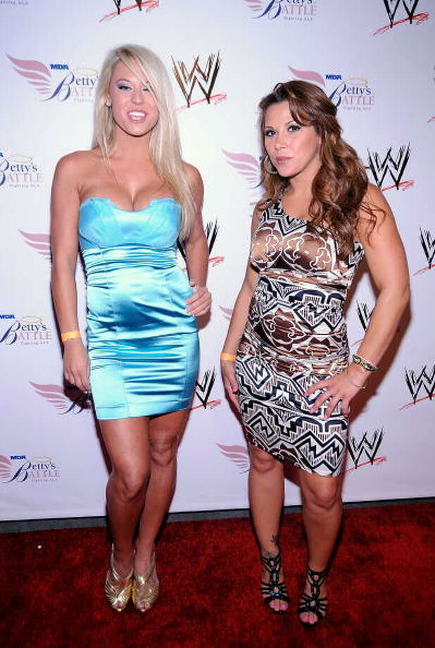 Taryn Terrell  and Mickie James Photo: Frazer Harrison, Getty Images / 2009 Getty Images