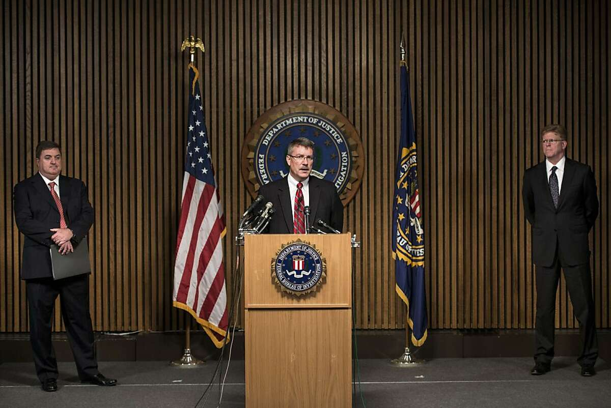 John Ryan (L), Chief Executive Officer of the National Center for Missing and Exploited Children, and Drew Oosterbaan (R), chief of the Justice Department's child exploitation and obscenity section, listen as Ronald Hosko, Assistant Director of the Federal Bureau of Investigation's Criminal Investigative Division, speaks during a press conference on July 29, 2013 in Washington. Hosko was joined by others to detail Operation Cross Country VII, a nationwide law enforcement operation over the weekend aimed at commercial child sex trafficking, which lead to the recovery of 105 children and the arrest of 150 sex trafficers