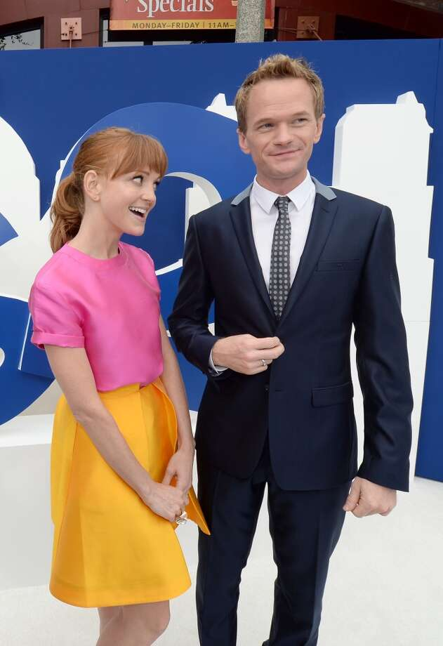 "Actors Jayma Mays (L) and Neil Patrick Harris attends the Los Angeles premiere of ""The Smurfs 2"" at Regency Village Theatre on July 28, 2013 in Westwood, California.  (Photo by Michael Buckner/Getty Images for SONY) Photo: Michael Buckner"