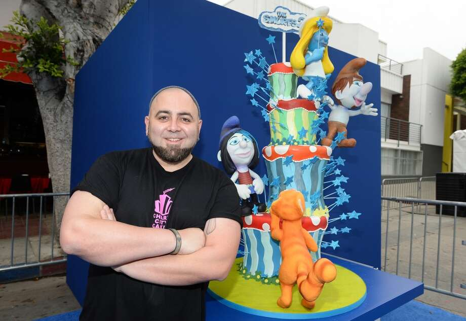 "Chef Duff Goldman attends the Los Angeles premiere of ""The Smurfs 2"" at Regency Village Theatre on July 28, 2013 in Westwood, California.  (Photo by Michael Buckner/Getty Images for SONY) Photo: Michael Buckner"